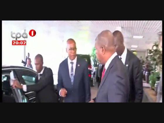 Cimeira de Gatuna - Katuna Presidente da República já em Kigali, Rwanda