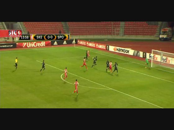 Skenderbeu - 3 x Sporting - 0  de 2015/2016 Liga Europa