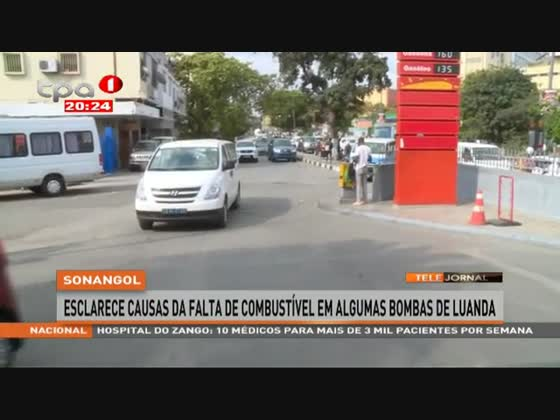 Sonangol esclarece causas da falta de combustível em algumas bombas de Luanda