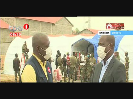 Hospital de campanha fica pronto esta semana em Cabinda