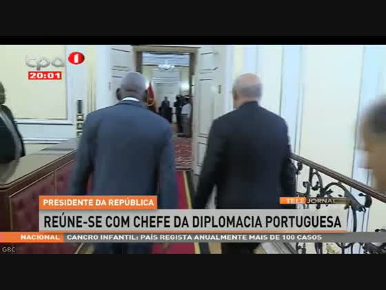 João Lourenço reúne-se com chefe da diplomacia portuguesa
