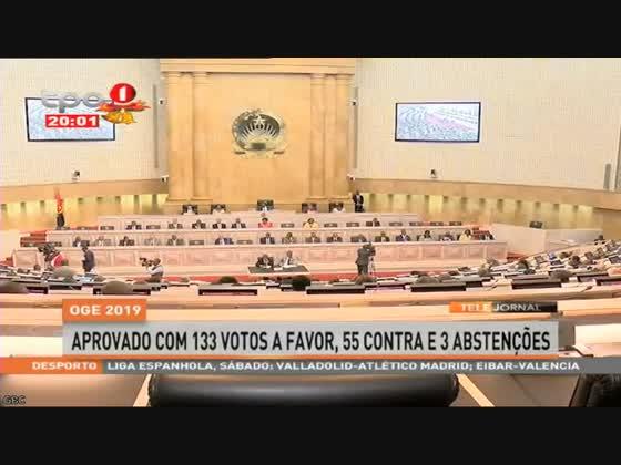 OGE 2019 aprovado com 133 votos a favor, 55 contra e 3 abstenções